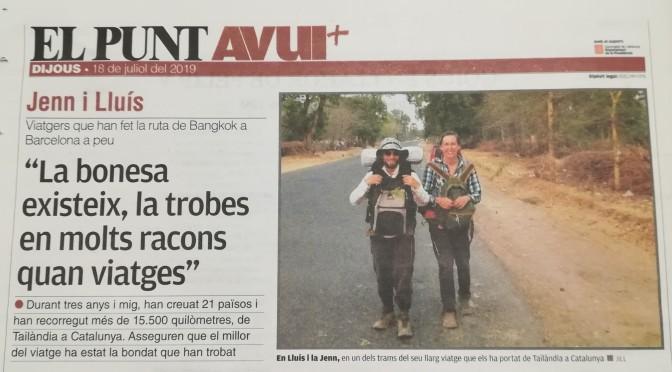 Entrevista al diari El Punt Avui