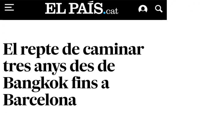 Entrevista al diari el País