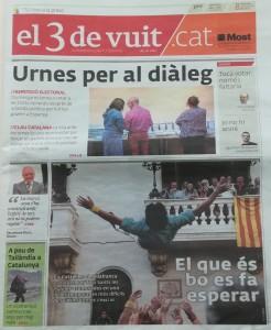 L'entrevista a la portada del diari el3devuit