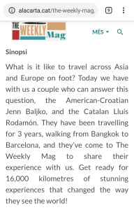 L'entrevista a The weekly Mag. Sinopsi