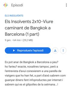 L'entrevista a Ona de Sants-Montjuïc. Programa Els Insolvents