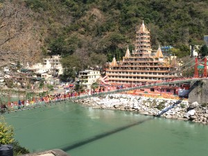 Walking along the Rishikesh riverfront