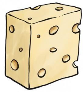 El nostre gran i deliciós formatge amb els inevitables forats.