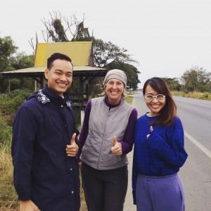 New friends we met along the way. Always grateful for roadside kindness.