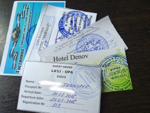 The famous registration slips